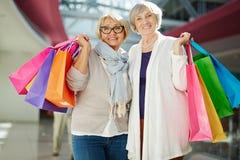 Shopaholics satisfaisant Image libre de droits
