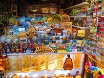 Shopboard Kamenets Podolskiy, Ukraina Royaltyfria Foton