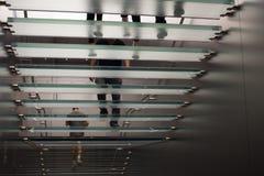 shope楼梯的悉尼,澳大利亚圣诞节顾客 库存照片