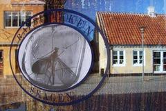 Shopfront на Skagen, Дании Стоковое Изображение
