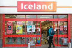 Shopfront de la tienda de Islandia Fotos de archivo