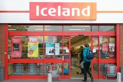 Shopfront del deposito dell'Islanda Fotografie Stock