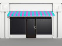 shopfront frontowy sklep Ilustracja Wektor