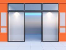 Shopfront med fönster Royaltyfri Foto
