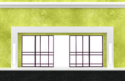 Shopfront. Series. Building exterior shopwindow with hanger awning and windows empty for your retail store product presentation. Shop front to paste your stock illustration