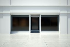 Shopfront window in modern building Royalty Free Stock Photography
