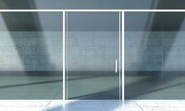 Shopfront window in modern building Stock Photos