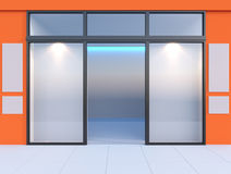 Shopfront with windows Royalty Free Stock Photo