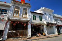 Shophouse along Tokong Street, Malacca Royalty Free Stock Image