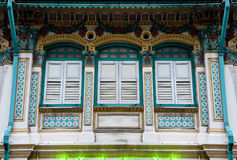 Shophouse de Peranakan imagem de stock royalty free