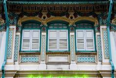 Shophouse di Peranakan immagine stock libera da diritti