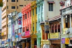 Shophouse em Lebuh Ampang Fotografia de Stock Royalty Free