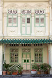 Shophouse i Singapore Royaltyfria Foton