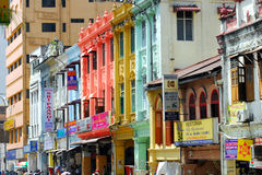 Shophouse at Lebuh Ampang Royalty Free Stock Photography
