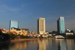 Река Shophouses Сингапура стоковые изображения
