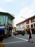 Shophouses en Maude Road, Singapour Photographie stock libre de droits