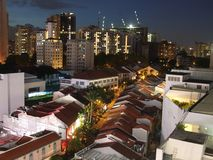 Shophouses at Orchard area Stock Photography