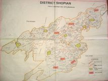 Shopian地图 免版税库存图片