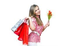 Shopiing = felicidad Imagen de archivo libre de regalías