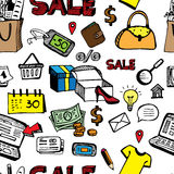 Shoping无缝零售的概念 库存图片
