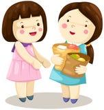 shoping的女孩 免版税库存照片