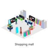 shoping的购物中心等量内部  库存图片