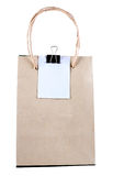 Shoping bag. Shopping bag made from brown recycled paper Royalty Free Stock Photos