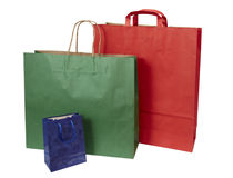 Shoping bag consumerism retail. Collection of shopping bags on white background with clipping path Stock Photo