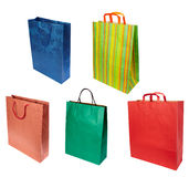 Shoping bag consumerism retail. Close up of shopping bag on white background. each one is in full cameras resolution Royalty Free Stock Image
