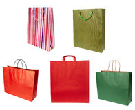 Shoping bag consumerism retail. Close up of shopping bag on white background. each one is in full cameras resolution Royalty Free Stock Images