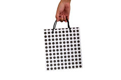 Shopping bag in hand Royalty Free Stock Photos