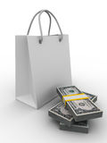 Shoping bag on white Stock Photo