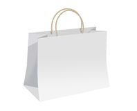 Shoping bag. White shopping bag for gifts Royalty Free Stock Photos