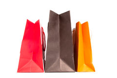 Shoping bags. On white isolate royalty free stock image