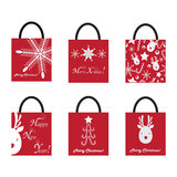 Shoping Bags for Christmas Royalty Free Stock Photos