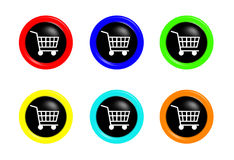 Shopping cart buttons Royalty Free Stock Image