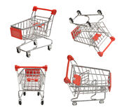 Shoping carts. Set of four shoping carts isolated on white Stock Images