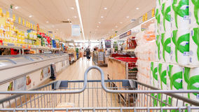 Shoping. Cener. Food drink buy money Stock Photography