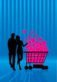 Shoping e amor Imagens de Stock Royalty Free