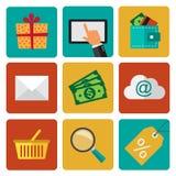 Shoping-Elemente Lizenzfreie Stockfotografie