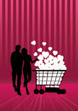 Shoping en liefde Stock Afbeelding