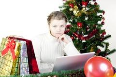 Shoping en ligne Photos stock
