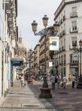 Shoping gata av zaragoza Arkivbilder