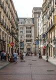 Shoping gata av zaragoza Arkivfoto