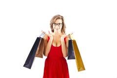 shoping kvinna Royaltyfria Bilder