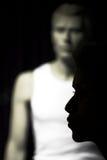 shoping kvinna för natt Fotografering för Bildbyråer
