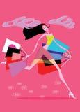 shoping kvinnor royaltyfri illustrationer