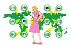 Shoping in linea illustrazione di stock