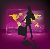 Shoping Mädchen Stockfoto