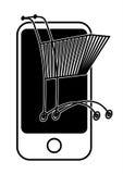 Shoping móvel ilustração royalty free